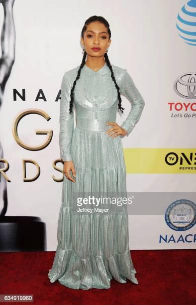 Actress Yara Shahidi arrives at the 48th NAACP Image Awards at Pasadena Civic Auditorium on February 11 2017 in Pasadena California