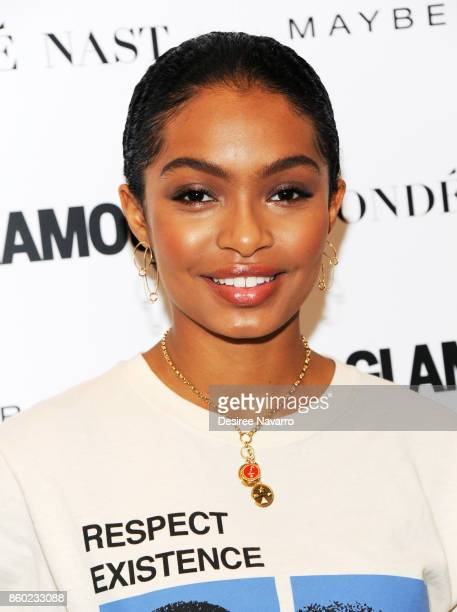 Actress Yara Shahidi attends 2017 Glamour International Day Of The Girl Rally at Merkin Concert Hall on October 11 2017 in New York City