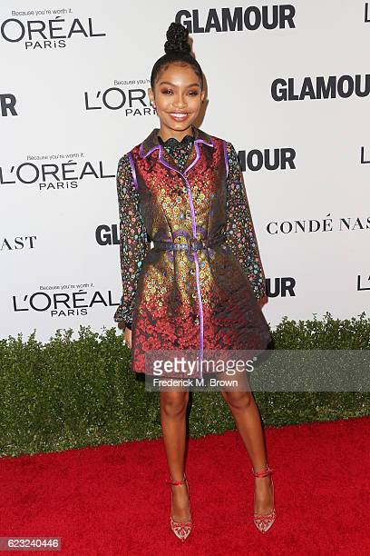 Actress Yara Shahidi attends Glamour Women Of The Year 2016 at NeueHouse Hollywood on November 14 2016 in Los Angeles California