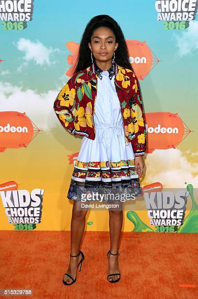 Actress Yara Shahidi attends Nickelodeon's 2016 Kids' Choice Awards at The Forum on March 12 2016 in Inglewood California