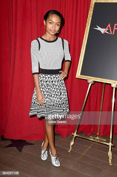 Actress Yara Shahidi attends the 16th Annual AFI Awards at Four Seasons Hotel Los Angeles at Beverly Hills on January 8 2016 in Beverly Hills...