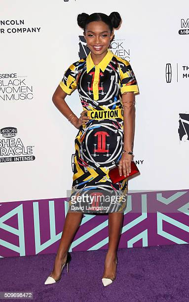Actress Yara Shahidi attends the 2016 ESSENCE Black Women In Music event at Avalon Hollywood on February 11 2016 in Los Angeles California