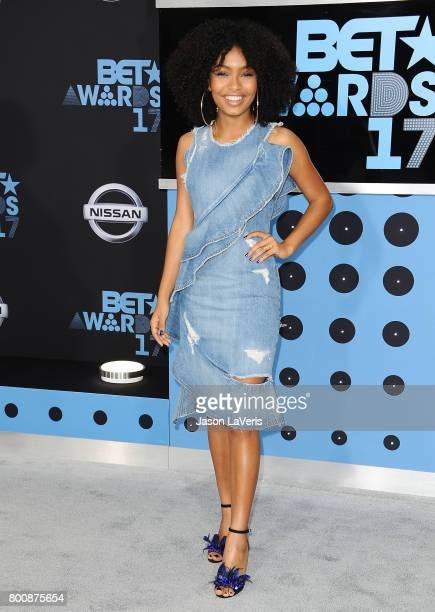 Actress Yara Shahidi attends the 2017 BET Awards at Microsoft Theater on June 25 2017 in Los Angeles California
