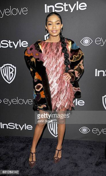 Actress Yara Shahidi attends The 2017 InStyle and Warner Bros 73rd Annual Golden Globe Awards PostParty at The Beverly Hilton Hotel on January 8 2017...