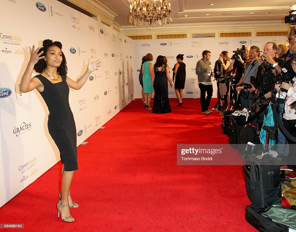 Actress <a gi-track='captionPersonalityLinkClicked' href=/galleries/search?phrase=Yara+Shahidi&family=editorial&specificpeople=4859417 ng-click='$event.stopPropagation()'>Yara Shahidi</a> attends the 41st Annual Gracie Awards at Regent Beverly Wilshire Hotel on May 24, 2016 in Beverly Hills, California.