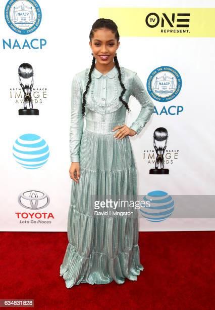 Actress Yara Shahidi attends the 48th NAACP Image Awards at Pasadena Civic Auditorium on February 11 2017 in Pasadena California