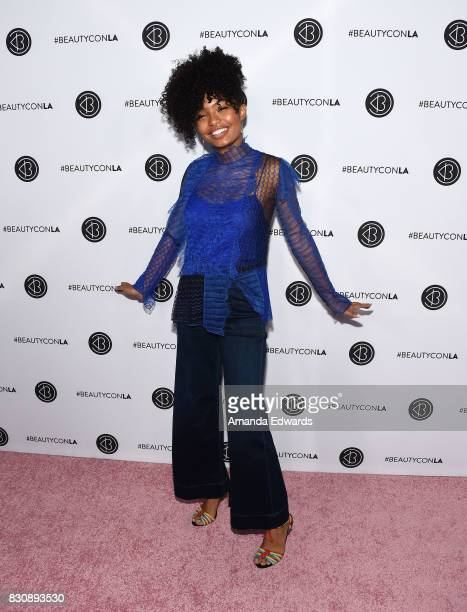 Actress Yara Shahidi attends the 5th Annual Beautycon Festival Los Angeles at the Los Angeles Convention Center on August 12 2017 in Los Angeles...