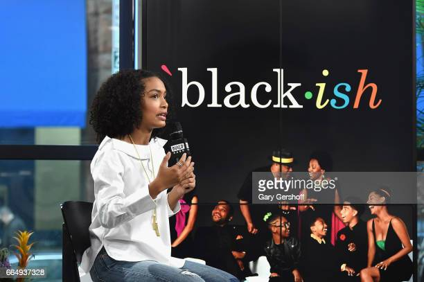 Actress Yara Shahidi attends the Build Series to discuss the comedy show 'Blackish' at Build Studio on April 5 2017 in New York City