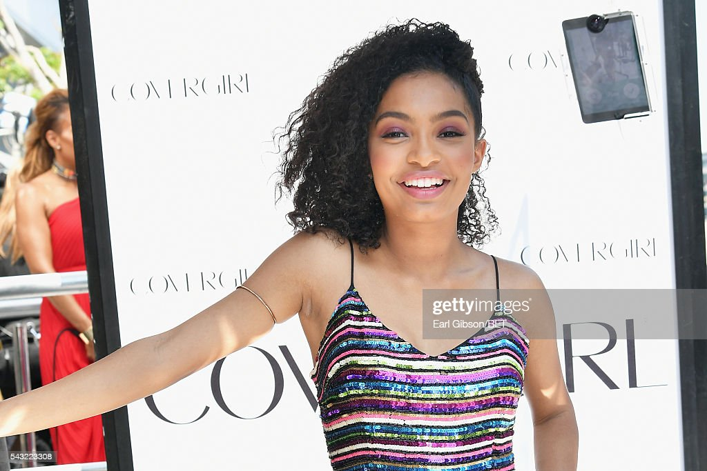 Actress <a gi-track='captionPersonalityLinkClicked' href=/galleries/search?phrase=Yara+Shahidi&family=editorial&specificpeople=4859417 ng-click='$event.stopPropagation()'>Yara Shahidi</a> attends the Cover Girl glam stage during the 2016 BET Awards at the Microsoft Theater on June 26, 2016 in Los Angeles, California.