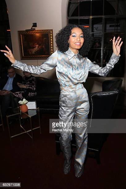 Actress Yara Shahidi attends the Entertainment Weekly Celebration of SAG Award Nominees sponsored by Maybelline New York at Chateau Marmont on...