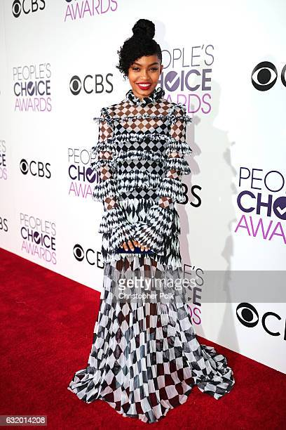 Actress Yara Shahidi attends the People's Choice Awards 2017 at Microsoft Theater on January 18 2017 in Los Angeles California