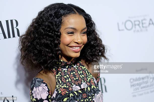 Actress Yara Shahidi attends Vanity Fair L'Oreal Paris Hailee Steinfeld host DJ Night at Palihouse Holloway on February 26 2016 in West Hollywood...