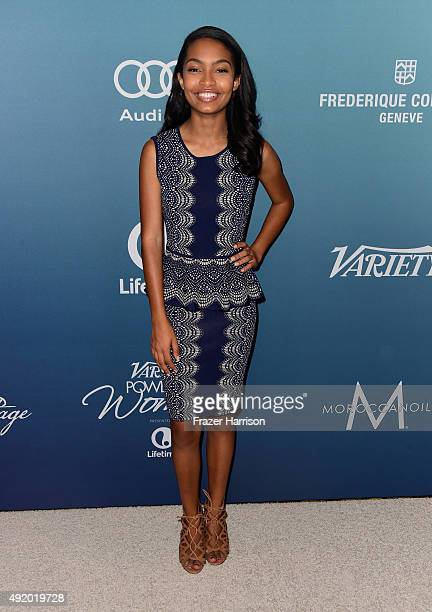 Actress Yara Shahidi attends Variety's Power Of Women Luncheon at the Beverly Wilshire Four Seasons Hotel on October 9 2015 in Beverly Hills...