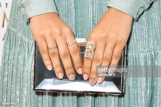 Actress Yara Shahidi clutch detail attends the 48th NAACP Image Awards at Pasadena Civic Auditorium on February 11 2017 in Pasadena California