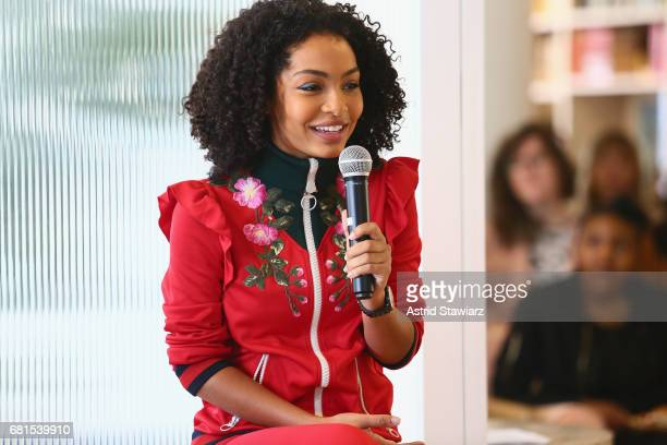 Actress Yara Shahidi speaks during Fossil Firsts Breakfast featuring Actress Yara Shahidi at The Wing on May 10 2017 in New York City
