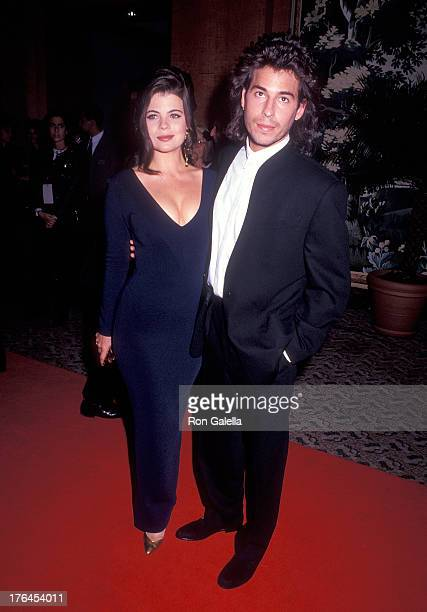 Actress Yasmine Bleeth and actor Ricky Paull Goldin attend the 19th Annual Daytime Emmy Awards on June 23 1992 at the Sheraton New York Hotel in New...