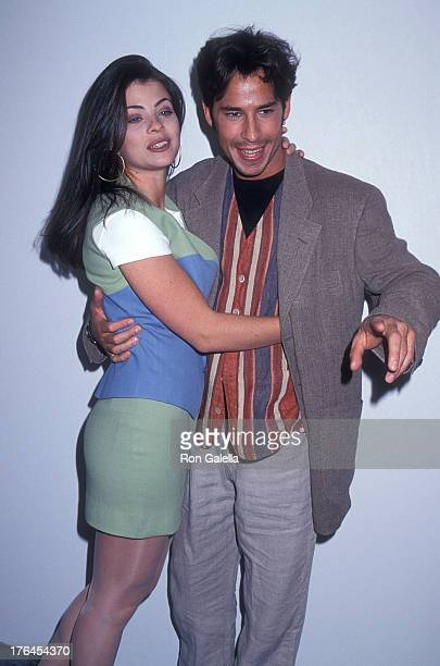 Actress Yasmine Bleeth and actor Ricky Paull Goldin attend the Seventeen Magazine's 50th Anniversary Celebration on May 3 1994 at Industria...