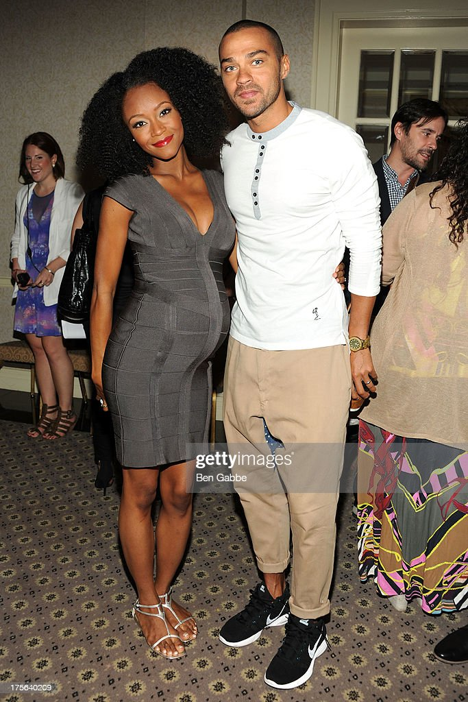 Actress Yaya Alafia (L) and actor Jesse Williams attend the press conference for The Weinstein Company's LEE DANIELS' THE BUTLER at Waldorf Astoria Hotel on August 5, 2013 in New York City.