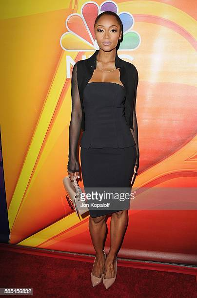 Actress Yaya DaCosta arrives at the 2016 Summer TCA Tour NBCUniversal Press Tour Day 1 at The Beverly Hilton Hotel on August 2 2016 in Beverly Hills...
