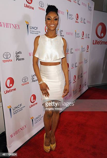 Actress Yaya DaCosta arrives at the premiere of Lifetime's 'Whitney' at The Paley Center for Media on January 6 2015 in Beverly Hills California