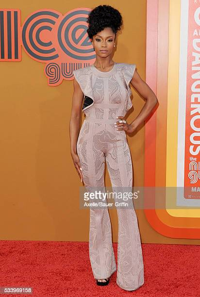 Actress Yaya DaCosta arrives at the premiere of Warner Bros Pictures' 'The Nice Guys' at TCL Chinese Theatre on May 10 2016 in Hollywood California