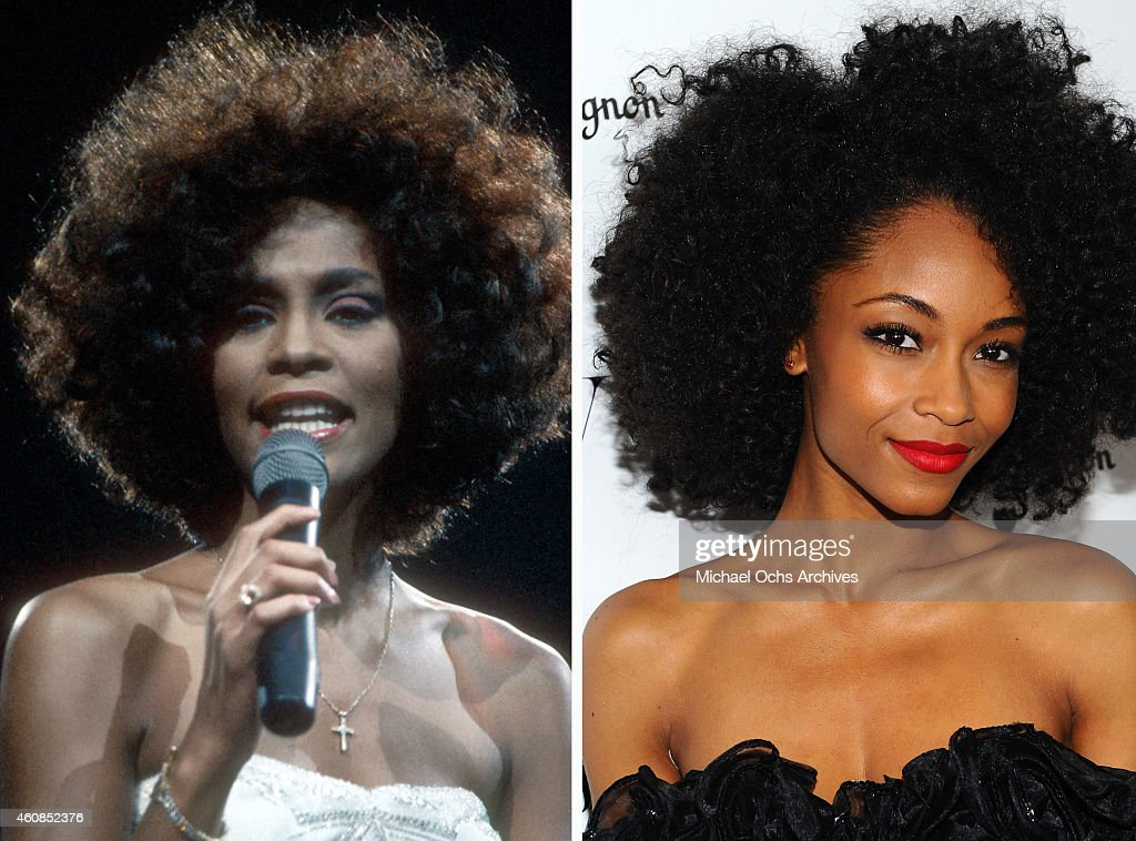 In this composite image a comparison has been made between <a gi-track='captionPersonalityLinkClicked' href=/galleries/search?phrase=Whitney+Houston&family=editorial&specificpeople=201541 ng-click='$event.stopPropagation()'>Whitney Houston</a> (L) and actress Yaya Dacosta. Actress Yaya Dacosta will reportedly play singer <a gi-track='captionPersonalityLinkClicked' href=/galleries/search?phrase=Whitney+Houston&family=editorial&specificpeople=201541 ng-click='$event.stopPropagation()'>Whitney Houston</a> in a TV film biopic 'Whitney' directed by Angela Bassett. LOS ANGELES, CA - JANUARY 13: Actress Yaya Dacosta arrives at W Magazine And Dom Perignon Celebrate It's Best Performances Issue And The Golden Globe Awards at the Chateau Marmont on January 13, 2012 in Los Angeles, California.