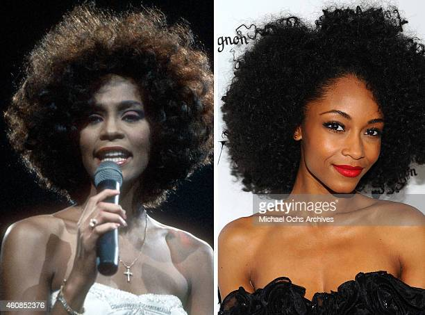 In this composite image a comparison has been made between Whitney Houston and actress Yaya Dacosta Actress Yaya Dacosta will reportedly play singer...
