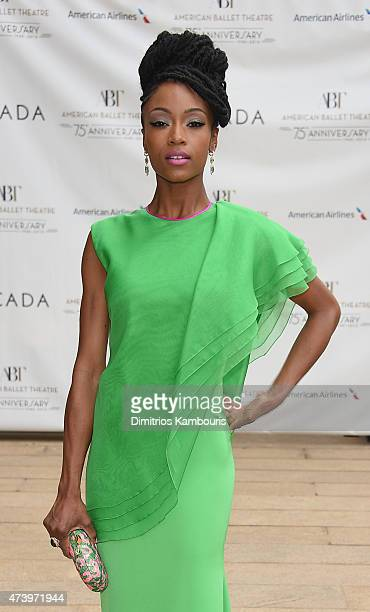 Actress Yaya DaCosta attends the American Ballet Theatre's 75th Anniversary Diamond Jubilee Spring Gala at The Metropolitan Opera House on May 18...