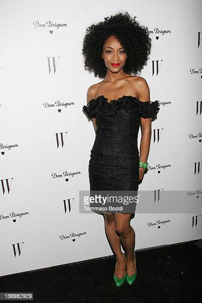 Actress Yaya DaCosta attends the W Magazine's celebration of the 69th annual Golden Globe Awards on January 13 2012 in Los Angeles California