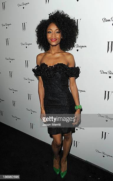 Actress Yaya DeCosta arrives at the W Magazine Best Performances Issue and The Golden Globes celebration hosted by Dom Perignon and W Magazine held...