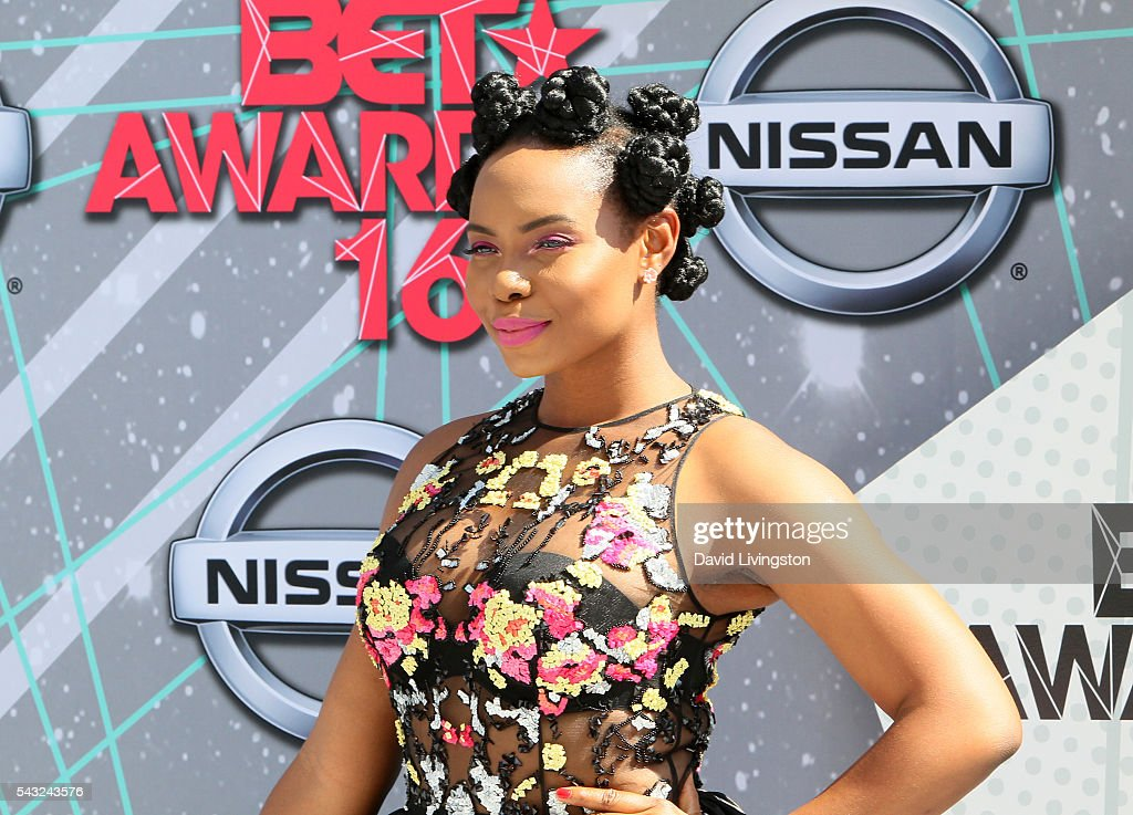 Actress Yemi Alade attends the 2016 BET Awards at Microsoft Theater on June 26, 2016 in Los Angeles, California.