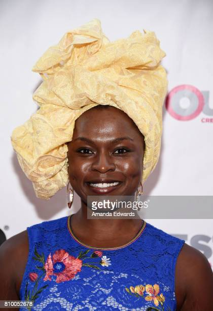 Actress Yetide Badaki arrives at the 2017 Outfest Los Angeles LGBT Film Festival Opening Night Gala of 'God's Own Country' at the Orpheum Theatre on...