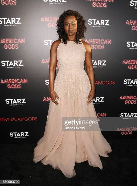 Actress Yetide Badaki attends the premiere of 'American Gods' at ArcLight Cinemas Cinerama Dome on April 20 2017 in Hollywood California