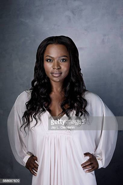 Actress Yetide Badaki of 'American Gods' is photographed for Los Angeles Times at San Diego Comic Con on July 22 2016 in San Diego California