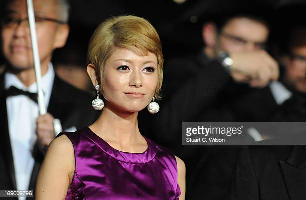 Actress Yoko Maki attends the 'Soshite Chichi Ni Naru' Premiere during the 66th Annual Cannes Film Festival at the Palais des Festivals on May 18...