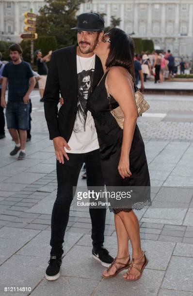 Actress Yolanda Ramos and Mario Alvarez Garcia attend the 'Pet Shop Boys' concert at Royal Theatre on July 10 2017 in Madrid Spain