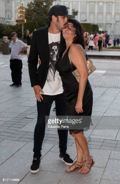 Actress Yolanda Ramos and Mario Alvarez Garcia attends the 'Pet Shop Boys' concert at Royal Theatre on July 10 2017 in Madrid Spain