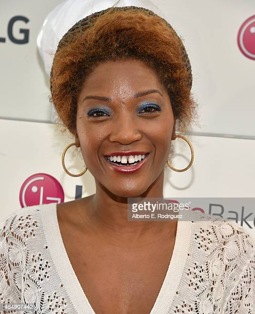 Actress Yolanda Ross attends Eva Longoria and LG Electronics Host 'Fam To Table' Series at The Washbow on August 22 2015 in Culver City California