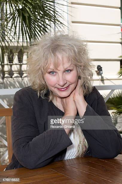 Actress Yolande Moreau is photographed for Self Assignment on May 15 2015 in Cannes France