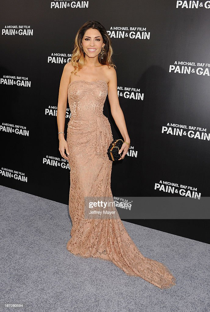 Actress Yolanthe Cabau attends the 'Pain & Gain' premiere held at TCL Chinese Theatre on April 22, 2013 in Hollywood, California.