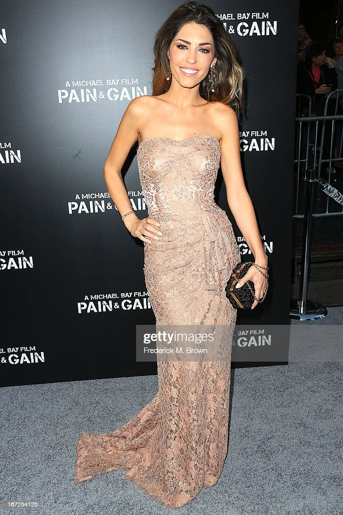 Actress Yolanthe Cabau attends the premiere of Paramount Pictures' 'Pain & Gain' at the TCL Chinese Theatre on April 22, 2013 in Hollywood, California.
