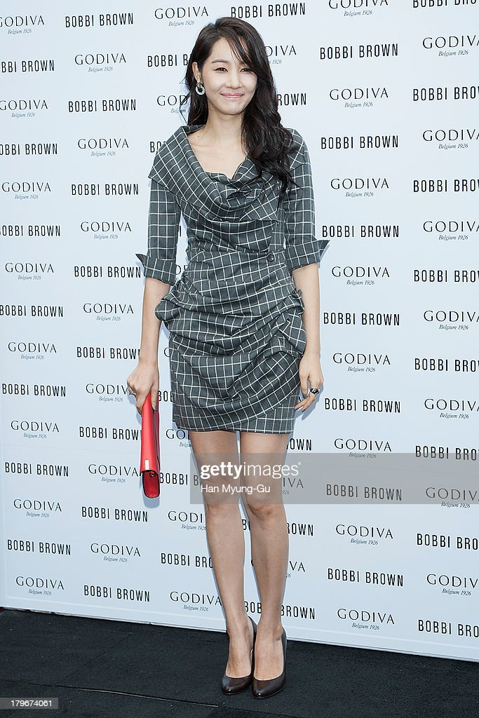 Actress Yoon Ji-Min (Yun Ji-Min) attends during the Bobbi Brown 'Rich Chocolate Collection' Launching Party With Godiva at Godiva flagship store on September 6, 2013 in Seoul, South Korea.