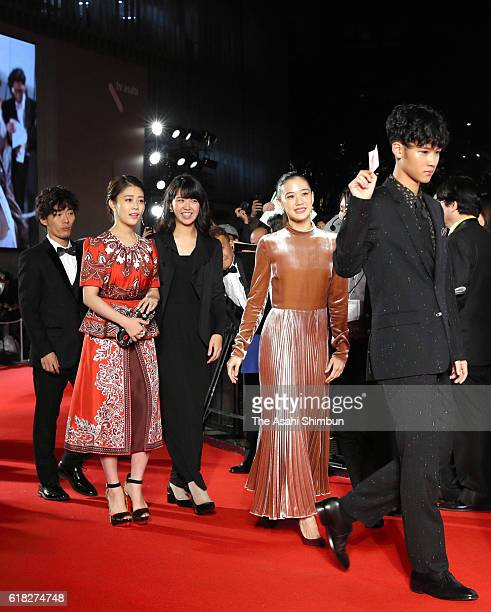 Actress Yu Aoi and Mitsuki Takahata walk on the red carpet during the Tokyo International Film Festival 2016 Opening Ceremony at Roppongi Hills on...