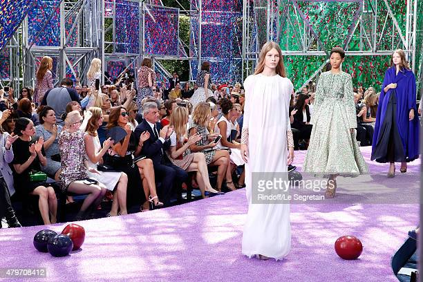 Actress Yu Aoi Musician Grimes Actress Emily Blunt Katia Toledano her husband CEO Dior Sidney Toledano Natalia Vodianova and Model Rosie...