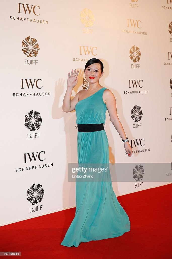 Actress Yu Nan attends the exclusive 'For the Love of Cinema' event hosted by Swiss watch manufacturer IWC Schaffhausen in the role as new sponsor of the Beijing International Film Festival, at the Ming Dynasty City Wall on April 22, 2013 in Beijing, China.