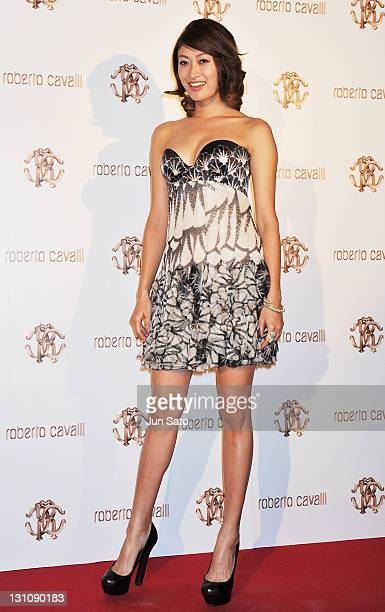 Actress Yu Yamada attends the Roberto Cavalli Tokyo Flagship Store Opening event on November 1 2011 in Tokyo Japan