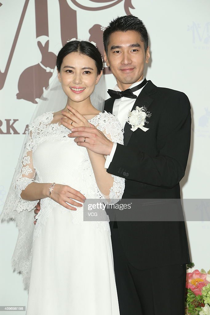 Actress <a gi-track='captionPersonalityLinkClicked' href=/galleries/search?phrase=Yuanyuan+Gao&family=editorial&specificpeople=220875 ng-click='$event.stopPropagation()'>Yuanyuan Gao</a> and actor <a gi-track='captionPersonalityLinkClicked' href=/galleries/search?phrase=Mark+Zhao&family=editorial&specificpeople=969876 ng-click='$event.stopPropagation()'>Mark Zhao</a> hold wedding ceremony at Le Meridien Taipei Hotel on November 28, 2014 in Taipei, Taiwan of China.