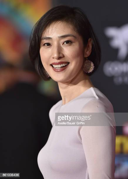 Actress Yuki Amami arrives at the premiere of Disney and Marvel's 'Thor Ragnarok' at the El Capitan Theatre on October 10 2017 in Los Angeles...