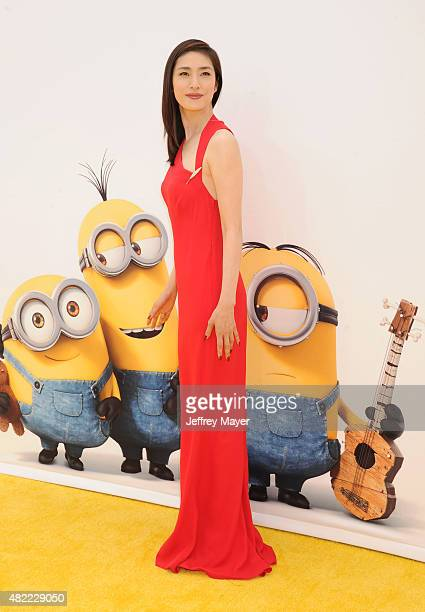 Actress Yuki Amami arrives at the premiere of Universal Pictures and Illumination Entertainment's 'Minions' at The Shrine Auditorium on June 27 2015...