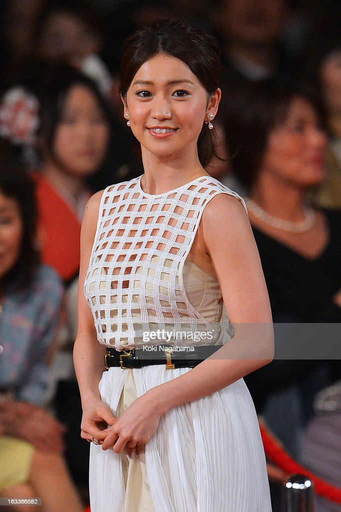 Actress Yuko Oshima attends the 36th Japan Academy Prize Award Ceremony at Grand Prince Hotel Shin Takanawa on March 8, 2013 in Tokyo, Japan.
